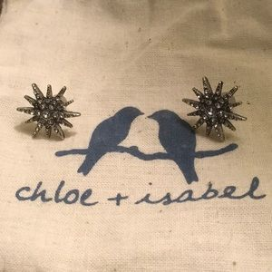 Chloe + Isabel silver starburst earrings